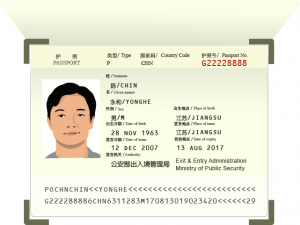 Copy of passport for Vietnam evisa