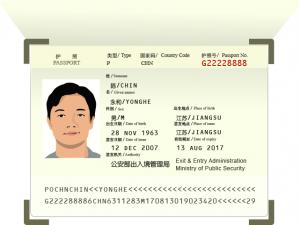 Copy of passport for Vietnam evisa